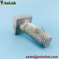 """Best 3/4 x 2-1/2 x 15/16"""" Square Zinc Steel Askew Head Bolt with  wedge-shaped head wholesale"""
