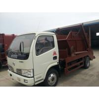 China Dongfeng 4*2 4CBM swing arm skip loader garbage truck for sale, factory sale best price hook lift garbage truck on sale