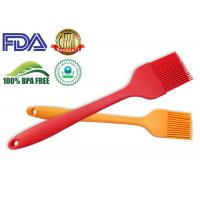 China Outdoor Silicone Kitchen Tools , BPA Free Silicone Basting Brush Red color on sale