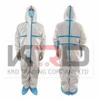 China Antivirus Medical Disposable coverall Protective Clothing CE certificate suit on sale