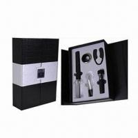 Best Bar Set, Includes 1pc Cork Pops Wine Opener, 1pc Wine Pourer and 1pc Wine Vacuum Stopper wholesale