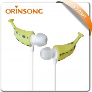 Best banana shape in-ear stereo earphone earset wholesale