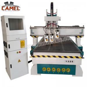 Best CA-1325 3 heads milling machine cnc with 1300*2500mm/cnc pneumatic head machine 3 spindles cnc machine wholesale