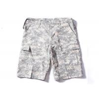Best ACU Military Cargo Shorts With Double Layer's Flaps Button Closure Pocket wholesale