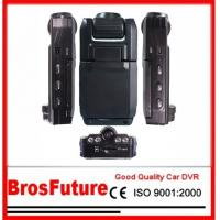 Best Night Vision Automobile Video Recorder Dvr With 180 Degree Two Dual Lens / 2.0 Mega wholesale