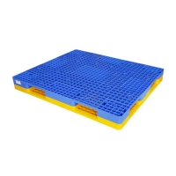 Cheap Double Faced 1400*1200mm Rackable Plastic Pallet 1500Kg Racking Load for sale