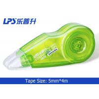 Quality OEM / ODM Plastic Mini Green Colored Correction Tape 5mm X 4m No W955 for sale