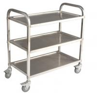 Best Commercial 3 Tier Stainless Steel Serving Cart With Castors / Handle wholesale
