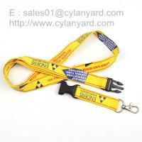 China Screen printed lanyard with ABS buckle release and metal thumb hook wholesale on sale