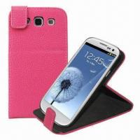 Best Flip Stand Leather Case/Pouch for Samsung Galaxy SIII i9300 wholesale