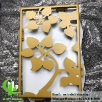 Best Solid aluminum facade panel for wall cladding powder coated RAL color gold color wholesale