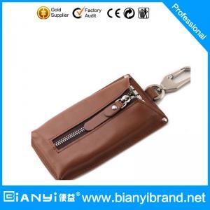 Best Hot Selling Fashionable Design Handmade Custom Promotion Cheap Leather Keychain bag wholesale