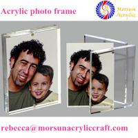 Best Transparent desktop acrylic magnetic picture holder 5X7 for gift wholesale