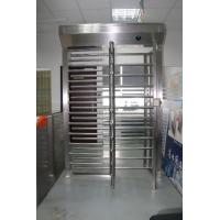 Buy cheap Emergency Exit  Function  Brushed Industrial Turnstile RFID Card Reader Full Height Turnstile product