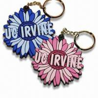 Best Flower Shaped Keychains, Various Styles are Available, Made of Soft PVC wholesale
