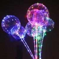 Best Birthday Party Air Confetti Balloon Helium Transparent Led Latex Balloon Sticks Stand Decoration Light wholesale