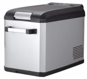 China 32 Liters 12V DC Compressor Deep Freezer RV Car Refrigerator Freezer Low Noise With LED Light Inside on sale