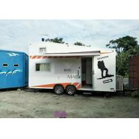Best Family Use Prefab Mobile Homes , Prefab Movable Homes Flat Roof Type wholesale