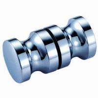 Buy cheap Chrome-plated Bathroom Door Knobs for 8 to 12mm Tempered Glass, Made of Solid from wholesalers