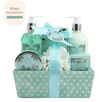 Best Adult Body Care Bath Gift Set / Luxury Body Care Gift Sets Weaving Basket wholesale