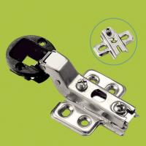 Best plastic and cold rolled steel furniture hinge glass door hinge half overlay wholesale