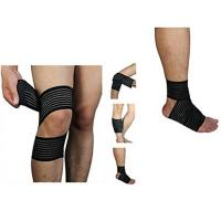 Best High elasticity Calf Thigh Support Knee Compression Wrap Bandage. Elastic material.Customized size. wholesale