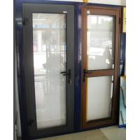 Best 1.4mm profile thickness custom-made color aluminum hinged doors for commercial door wholesale