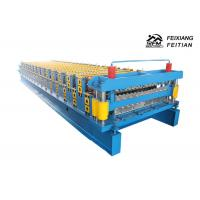 Best Blue Corrugated Roofing Sheets Making Machines 8 - 12m/Min Working Speed wholesale
