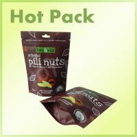 70g Raw Chocolate / Coconut Activated Pili Nuts Stand Up Pouch With Zipper