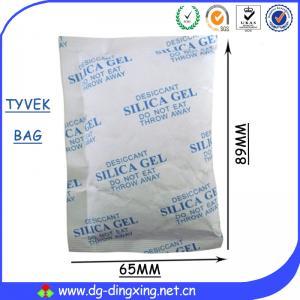 China High Absorption Ability Food Grade Silica Gel Tyvek Bag Silica Gel Desiccant Packs on sale