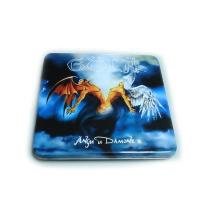 Best custom printed CD tin box with hinged lid wholesale