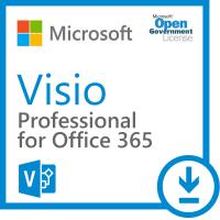 China PC Software Key Code Microsoft Visio Professional 365 Open Local Government on sale