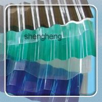 China polycarbonate corrugated roofing sheet/skylight pc transparent roof sheet for greenhouse on sale