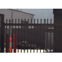 Best Spear Top Fence, Hercules Fence, Top Spear Fence, Pressed Top Steel Fence Coated at black 2100mm x 2400mm wholesale