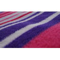 Best 100% Polyester Stripe Printed Coral Fleece Fabric wholesale