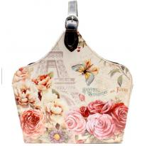 China Flower butterfly embossed paisley pattern shopping basket bag design makeup bag Elegant circular fabric storage bag on sale