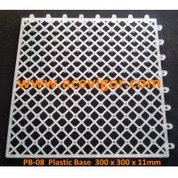 Best PB-08 White Plastic Base for WPC deck tiles wholesale