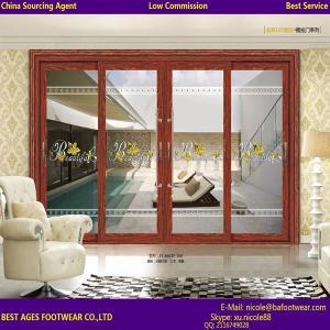 Best Certification Double glazing glass aluninum frame interior Accordion door wholesale
