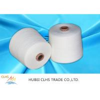 Best 30 / 1 High Tenacity Spun Polyester Knitting Yarn Raw White 100% Virgin Polyester wholesale