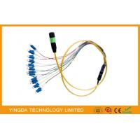 China Simplex Fiber Cable , MPO / MTP - LC Harness Patch Cord Cable 0.9mm SM on sale