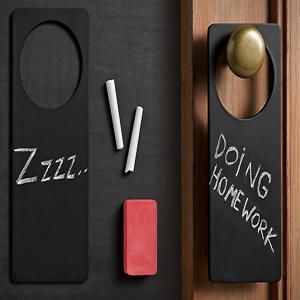 China 2015 Custom Chalkboard Door Hangers on sale
