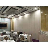 Melamine Surface Operable Acoustic Room Dividers For Restaurant / Sliding Partition Wall