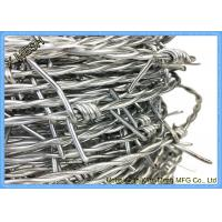 Best 12 x 14 gauge 15kg/roll HDG Double Strand Galvanized Barbed Wire wholesale