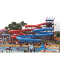 Best Outdoor Family Entertainment 2 lane Spiral Slides Combination Amusement Park Water Slides wholesale