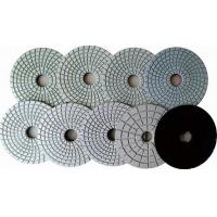 China Quartz Countertop  Ceramic Wet Concrete Hand Polishing Pads Grey Black Flexible on sale