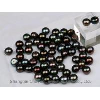 China 11.0mm Loose Black Fresh Water Pearl Half Drilled on sale
