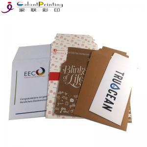 Best Kraft Tear Strip Paper Cardboard Shipping Envelopes A4 / A5 Size OEM wholesale