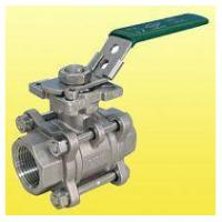 Buy cheap ISO 5211 Locking Handle 3 Port Ball Valve Stainless Steel NPT Thread product