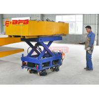 China 2019 Cheap Electric Outdoor Material Handling Lifting Equipment , Yellow Heavy Load Rail Transfer Car on sale