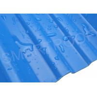 China Watertight House Eaves PVC Corrugated Roofing Sheets 1.8 MM Trapezoid Shaped on sale